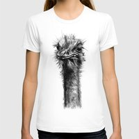 ostrich T-shirts featuring Ostrich  by Jane Moore Art