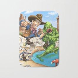 John Wayne VS. The Creature From The Black Lagoon Bath Mat
