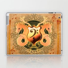 Music, clef and key notes Laptop & iPad Skin