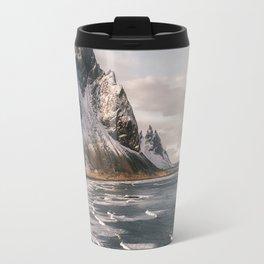 Stokksnes Icelandic Mountain Beach Sunset - Landscape Photography Travel Mug