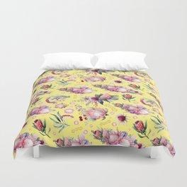 Australian Native Floral Pattern - Protea Flowers Duvet Cover