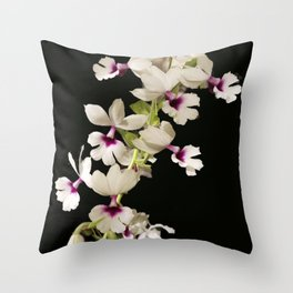 Calanthe rosea Orchid Throw Pillow