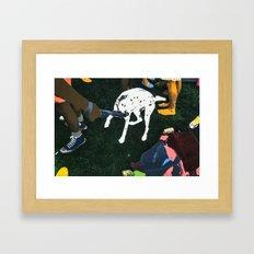 SHINY HAPPY PEOPLE Framed Art Print