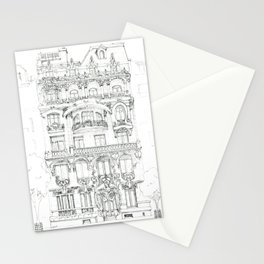 the face of Paris Stationery Cards