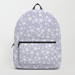 Block Printed Dusty Purple and White Stars Backpack