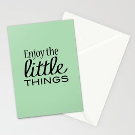Enjoy the Little Things - Mint Green Stationery Cards