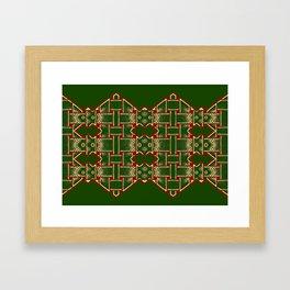 Weave on green background-2 Framed Art Print