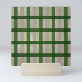 Evergreen Cozy Cabin Plaid Mini Art Print