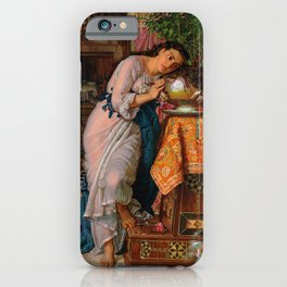 """William Holman Hunt """"Isabella and the Pot of Basil"""" iPhone Case"""