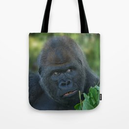 Silverback Got His Eye One Some More Leaves Tote Bag