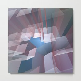 Kissing the sky, geometric fractal abstract Metal Print