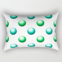 Green and Teal Chrome Balls Rectangular Pillow