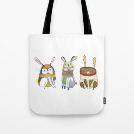 Rabbits Tote Bag