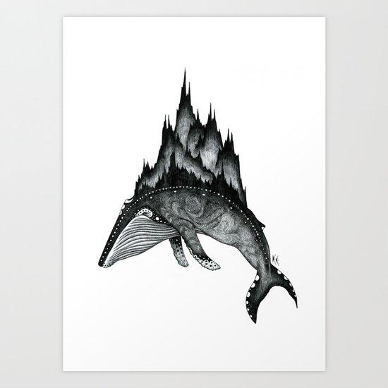 The Traveller B+W Art Print