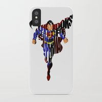 super hero iPhone & iPod Cases featuring Super Hero by A Deniz Akerman