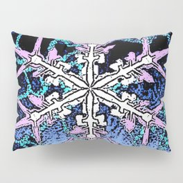 GRAPHIC WINTER SNOWFLAKE PEN & INK DRAWING Pillow Sham