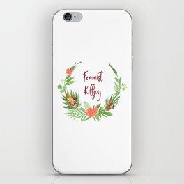 Feminist Killjoy - A Floral Wreath iPhone Skin