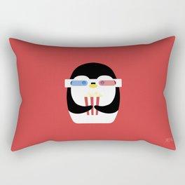 Penguin + Movie Time Rectangular Pillow