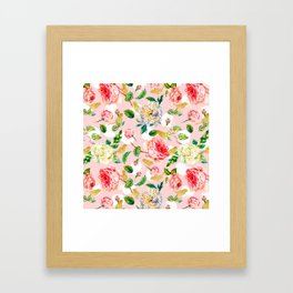 Blooming in spring Framed Art Print