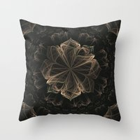 ornate Throw Pillows featuring Ornate Blossom by Charma Rose