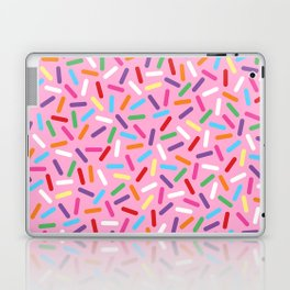 Pink Donut with Sprinkles Laptop & iPad Skin
