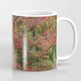 Fall Tree - Red - Square Coffee Mug