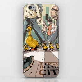 Lost in the city iPhone Skin