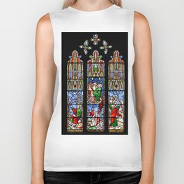 Cathedral Stained Glass 2 Biker Tank