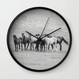 Young Horses Wall Clock