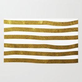 Gold foil painted stripes Rug