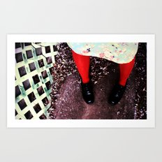 red socks Art Print