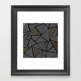 A Linear Black Gold Framed Art Print