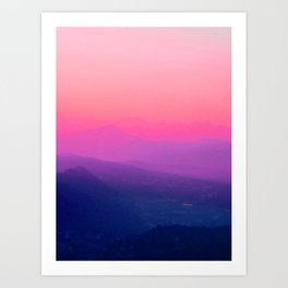 Como Sunset Art Print