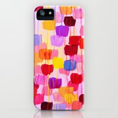 DOTTY in Pink - October Special Revisited Bold Colorful Square Polka Dots Original Abstract Painting iPhone (5, 5s) Slim Case