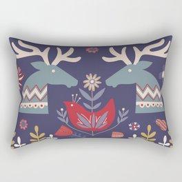 REINDEER AND FLOWERS Rectangular Pillow