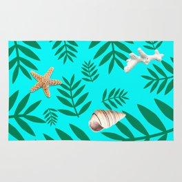 leaf coral Rug