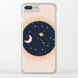 Love in Space Clear iPhone Case