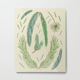 Pine Bough Study Metal Print