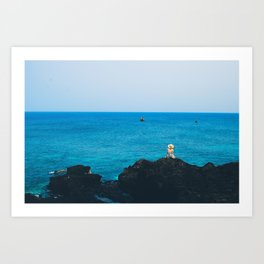 Ly son island in the blue sea Art Print