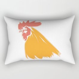 Rooster Cock Head Feather Chicken Bird Gift Rectangular Pillow