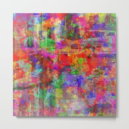 Vibrant Chaos - Mixed Colour Abstract Metal Print