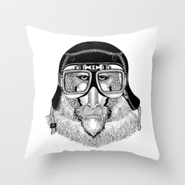 Monkey Speed Rebel Throw Pillow