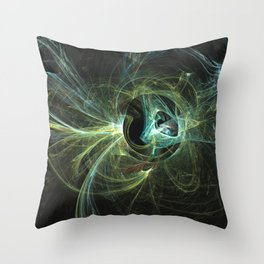 Mechanical Landscape with Speculative Poetry Throw Pillow