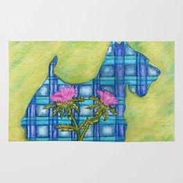 Scottish Terrier Silhouette Rug