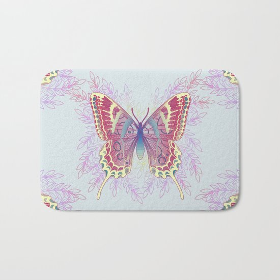 Beautiful Colorful Butterfly Design Bath Mat