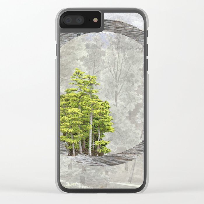 'Trees are sanctuaries' Clear iPhone Case