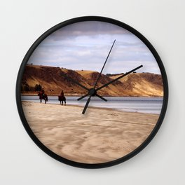 Riders on the Shore Wall Clock