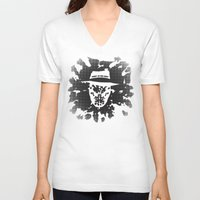 rorschach V-neck T-shirts featuring Rorschach by Vickn