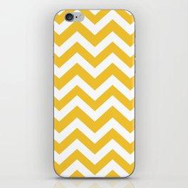 Saffron - yellow color - Zigzag Chevron Pattern iPhone Skin