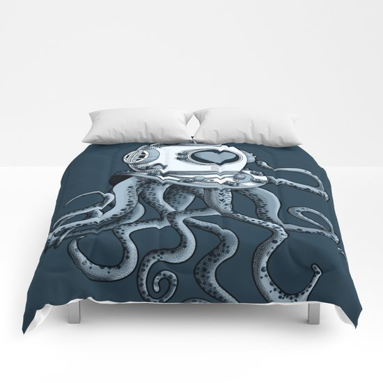 I'm falling in love with you? (blue gray) Comforters